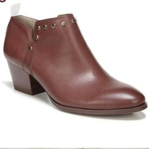 Franco Sarto Brown Leather Ankle Booties Sz 8.5